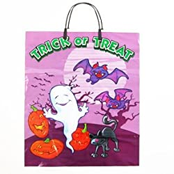 Large Halloween Trick Treat Bags - 12 Pack
