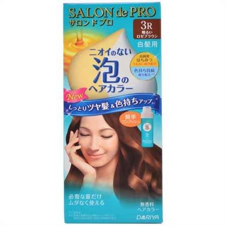 サロンドプロ ワンプッシュ泡のヘアカラー 3R