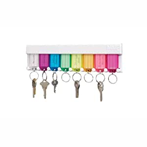 STEELMASTER 8-Tag Multi-Colored Key Rack, 16.5 x 20.13 x 5 Inches, White (201400847)
