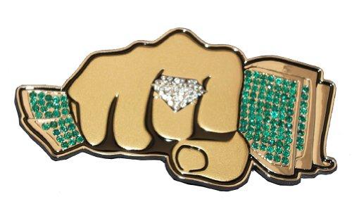 Fist of Cash Rhinestone Belt Buckle Hip Hop