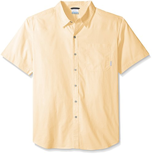 Columbia Men's Plus-Size Big Thompson Hill Solid Short Sleeve Shirt, Cane, 3X