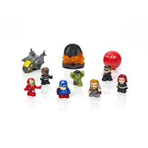 Squinkies MARVEL 10-Piece Bubble Avengers Exclusive Movie with Tiny Toys Series1