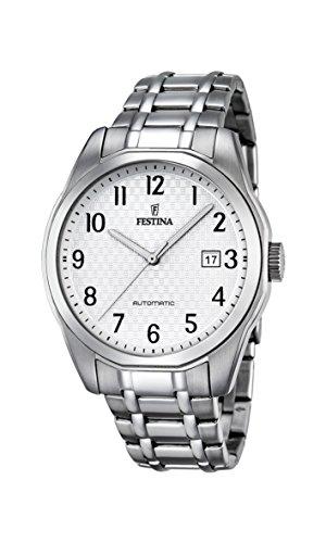 Festina Reloj Automático para Hombre, Con Esfera Analógica Pantalla y Pulsera de acero inoxidable (Plata F16884/1