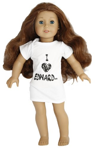 BUYS BY BELLA I Love Edward T-Shirt for 18 Inch Dolls Like American Girl