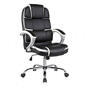 OFFICE MORE High Back Executive Office Chair PU Leather Computer Desk Chair