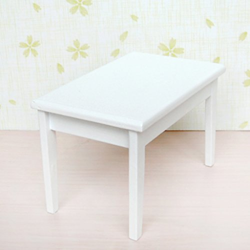 5pcs white wooden dining table chair model set 1 12 barbie for New model wooden dining table