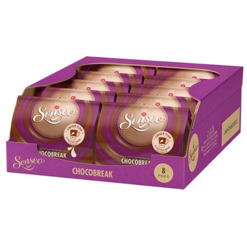 Senseo Chocobreak, Schokoladiger Genuss ohne Kaffee, ähnlich wie Hot Choco, 10er Pack, 10 x 8 Kakao Pads