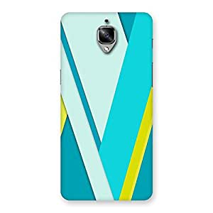Ajay Enterprises Blue And Yellow Design Back Case Cover for OnePlus 3