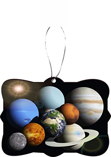 Rikki KnightTM Solar System Planets Design Tree Ornament / Car Rear View Mirror Hanger