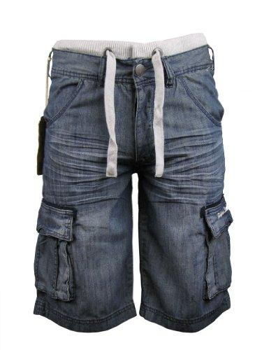 Mens Denim Jean/ Cargo Shorts 'Tokyo Laundry' Vintage Blue