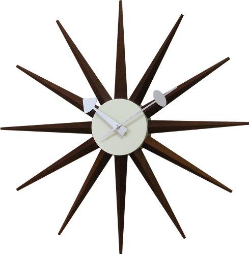 壁掛け時計 ジョージ・ネルソン サンバーストクロック ウォールナット 51910054