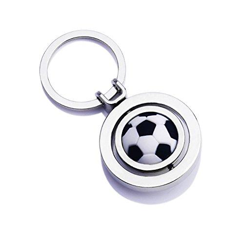Hongshida Car Key Chain Football Model Key Ring Business Creative Gift(Silver,1 Pcs) (Tiny Mates Football compare prices)
