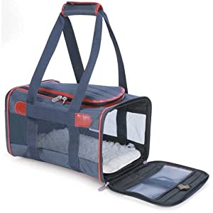 Sherpa Classic Medium Deluxe Orginal Navy Pet Dog Cat Kitten Soft Sided Crate Carrier Airline Carrier 17