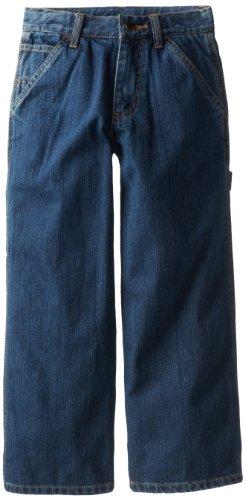Carhartt Big Boys' Washed Denim Dungaree Jeans, Worn In Blue, 14