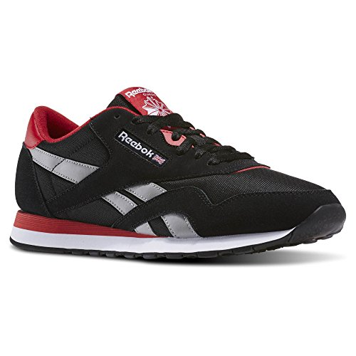 Reebok Men's CL Nylon TS Fashion Sneaker, Black/Excellent Red/Mgh S, 10.5 M US (Reebok Classic Mens Sneakers compare prices)