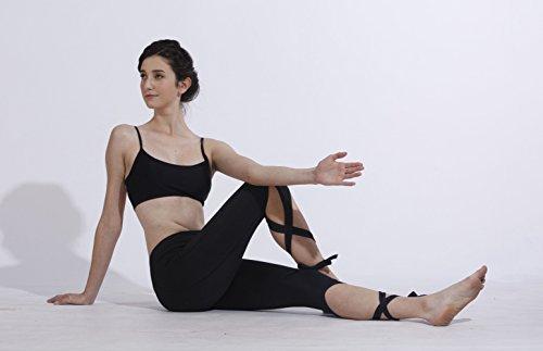 Queenie Ke Women's Yoga Pant Legging Capris String-End Workout Dance Pants Size S Color Black Pro