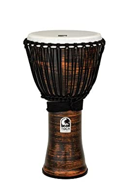 Toca Freestyle II Rope Tuned 12-Inch Djembe - Copper Spun Finish