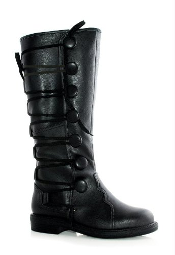 Costumes For All Occasions Ha133Bk12 Boots Ren Mens Bk Sz 12-13
