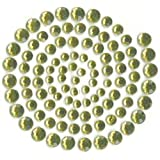 Kaisercraft Self Adhesive Rhinestones, 100 Per Package, Split Pea