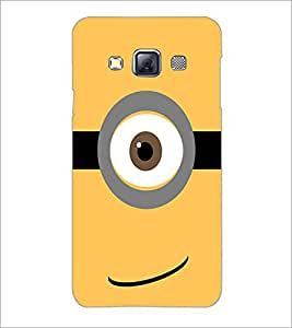 PrintDhaba Eye Pattern D-1062 Back Case Cover for SAMSUNG GALAXY A3 (Multi-Coloured)