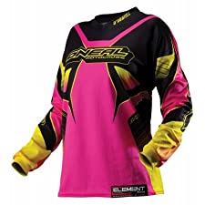 O'Neal Womens Element Racewear Motocross Jersey Black/Pink Medium