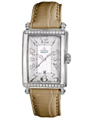 Gevril Women's 7249NT.5A White Mother-of-Pearl Genuine Alligator Strap Watch