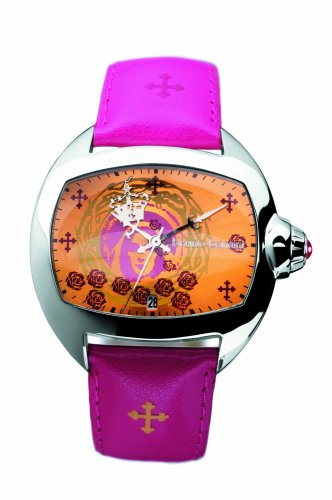 Bruno Banani Ladies Orange and Pink Dial Watch with Pink and Orange Leather Strap