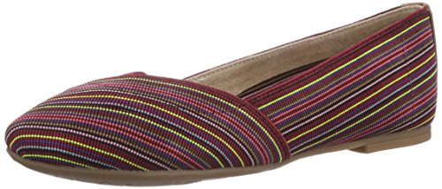 s.Oliver 22104, Ballerine chiuse donna, Rosso (Rot (Red Comb 597)), 36