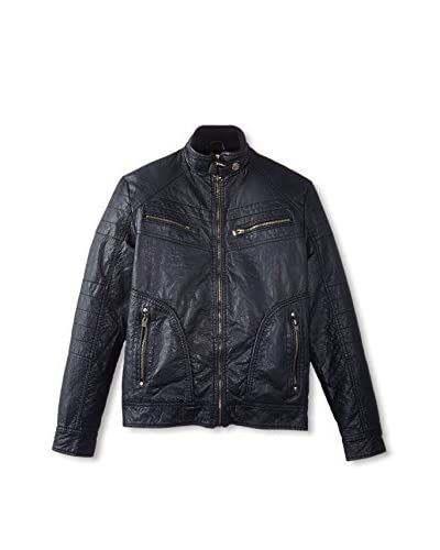 X-Ray Men's Faux Leather Bomber