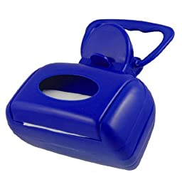 Water & Wood Plastic Pet Spring Action Pickup Pooper Scooper Cleaner Box, Blue