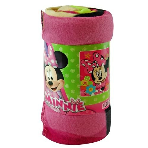 "Fleece Throw - Disney - Minnie Mouse - Flower Pop 45""x60"" Blanket - 1"