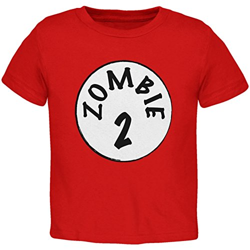 Halloween Zombie 2 Two Costume Red Toddler T-Shirt