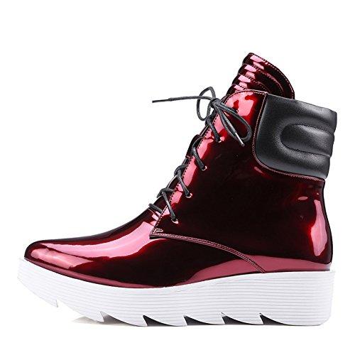autunno e inverno più velluto Stivali/Stivali impermeabili a punta pizzo/Scarpe donne di grandi dimensioni-A Lunghezza piede=23.8CM(9.4Inch)