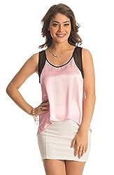 PrettySecrets Women's Body Blouse Shirt  (PSW14BLS24_Purple_XL)