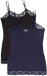 Zenana Women's Lace Trim Tank Top