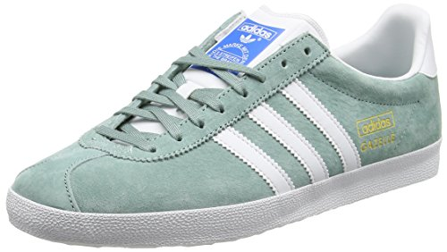Adidas Gazelle Og - Scarpe Running Uomo, Verde (Legend Green/Running White/Legend GreenLegend Green/Running White/Legend Green), 42 2/3 EU