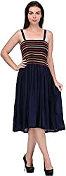 JH Mart Women's Cocktail Dress (JHDRS1016_Nvy_M, Navy, M)