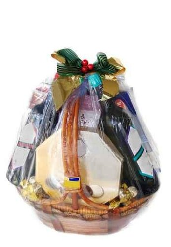 A Nicely Decorated Gift Hamper of Wines and Chocolates - 24