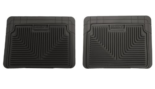 Husky Liners 52021 Semi-Custom Fit Heavy Duty Rubber Rear Floor Mat - Pack of 2, Black (96 Camaro Floor Mats compare prices)