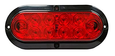 Nortech 6-Inch Flush Mount with Bracket, Oval Sealed Stop, Turn, Tail Light