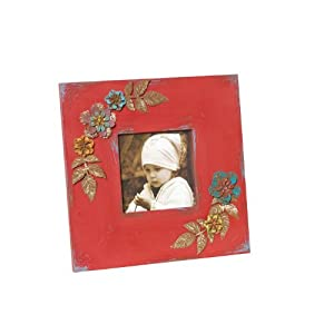Wilco Imports Wood Photo Frame, 10.75 by 0.5 by 10.75-Inch, Red