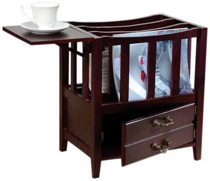 Magazine Rack Home Furniture Organizercpull Up Shelf Coffee Side Table Cabinet Ebay