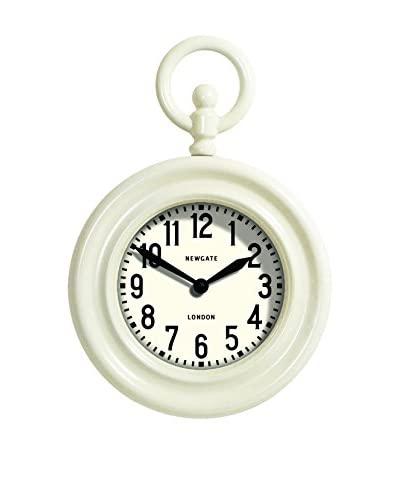 Newgate Fob Watch Wall Clock, White