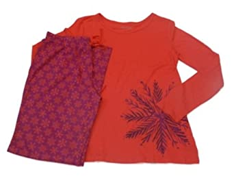 Gilligan O'Malley Womens Red Snowflake Pajamas Set Sleep Pants & T-Shirt PJs