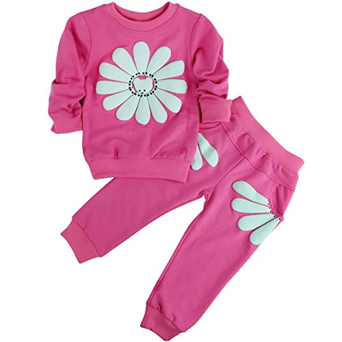 Jastore Baby Girl 2pcs Sunflower Clothing Sets Top and Pants Fall Clothes