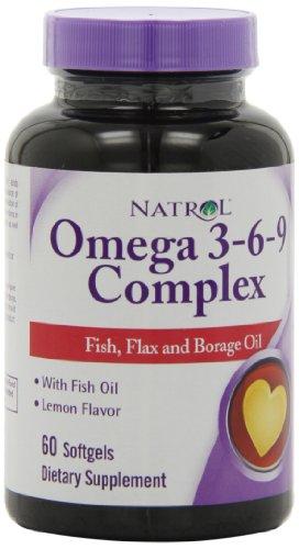 Natrol Omega 3-6-9 Les gélules complexes,