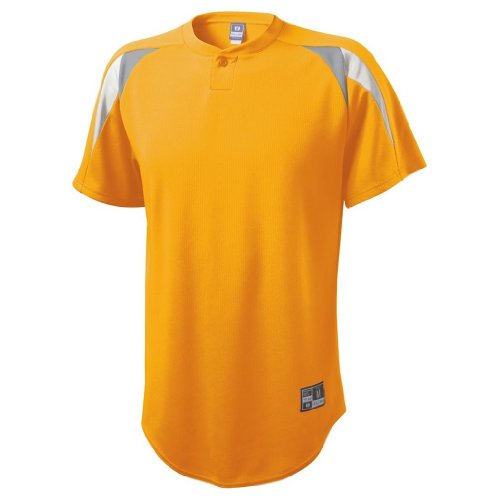 Holloway Contender Jersey (Small, Light Gold/Blue Grey/White)