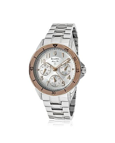 Bulova Women's BUL-96N101 Marine Star Silver Tone Stainless Steel Watch