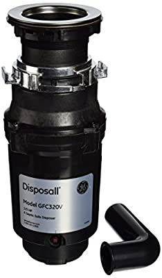 General Electric GFC320V 1/3 Horsepower Continuous Feed Disposall Large Capacity Food Waste Disposer, Black