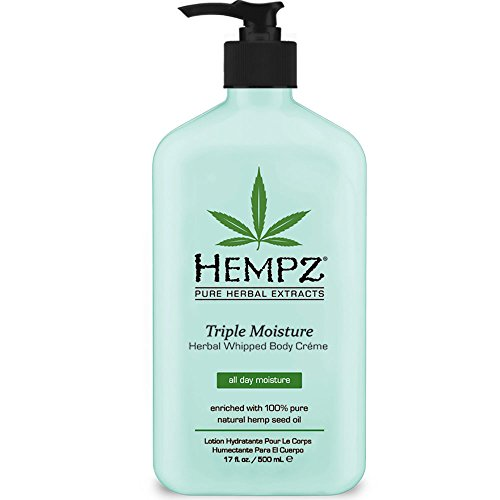 Hempz Triple Moisturizer Herbal Whipped Body Creme, 17 Ounce